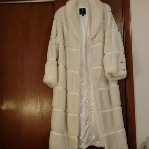 Rachel Zoe faux fur long coat